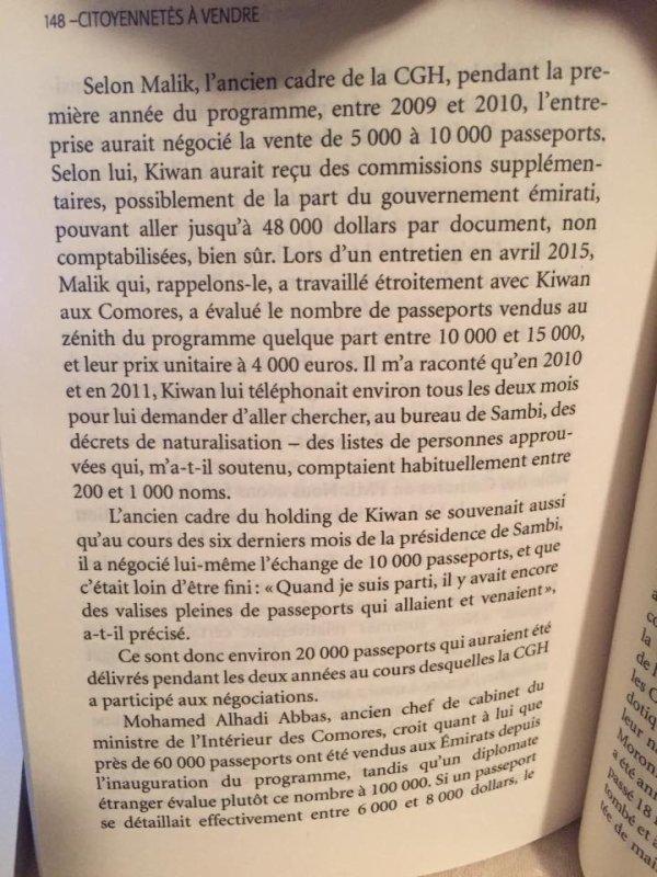 Citoyennetés à vendre  : un Crime d'Etat commis aux Comores