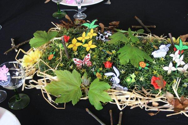 D coration de table th me nature les idees de lucie - Deco de table theme nature ...