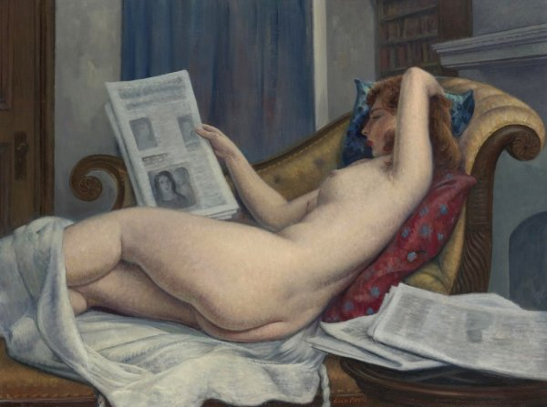 LEON KROLL (1884 - 1974 ) MORNING PAPER