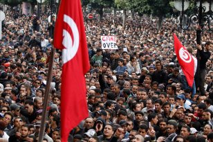 Tunisie révolution ?duhezbollah au hamas en passant par l'Iran et en parti du monde entier , le monde salue la revollution du peuple tunisien ....un signe pour . le monde arabe qui s'effondra tot ou tard ! l'occident un détail .