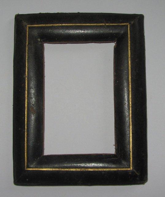 Ancien cadre porte photo miniature peinture en cuir antique picture frame ebay - Dimension cadre porte ...