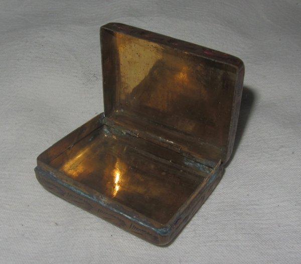 Ancienne tabati re boite priser laiton ebay for Fenetre a tabatiere