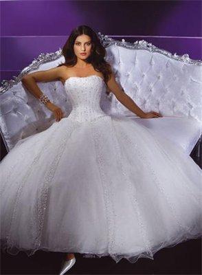 robe de mariee demetrios 939 blanche parsemé de strass et perles ...