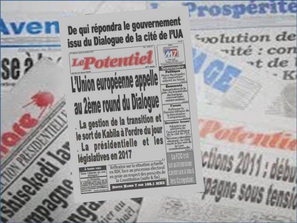 Revue de presse  du mardi 18 Octobre 2016: �L'Union europ�enne appelle au 2�me round du Dialogue�