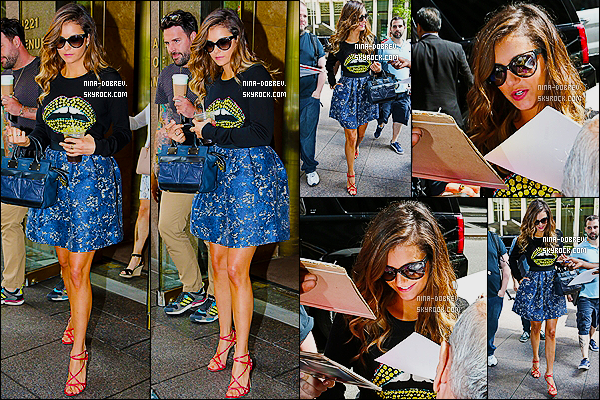 04/08/14 : Nina a donn� une interview �  � Access Hollywood � afin de parler de � Let's Be Cops � � New York.
