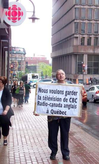 NOUS VOULONS GARDER LA T�L�VISION DE CBC RADIO-CANADA ANGLAIS � QU�BEC