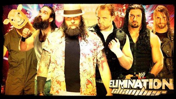 Elimination Chamber 2014 - THE SHIELD vs The Wyatt Family