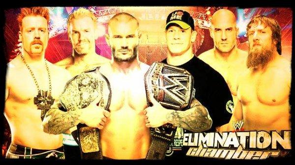 Elimination Chamber 2014 - WWE World Heavyweight Championship Elimination Chamber Match / JOHN CENA