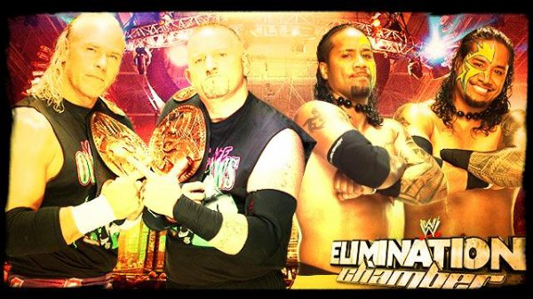 Elimination Chamber 2014 - WWE Tag Team Championship Match, THE NEW AGE OUTLAWS vs The Usos