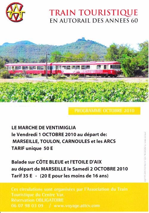 trains spéciaux d'octobre 2010