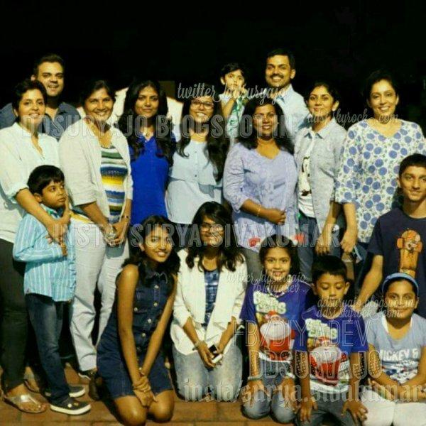 Suriya's family Xmas celebration 2016