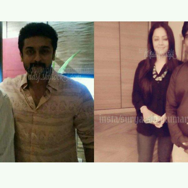 Suriya Jyothika @ Vizag during Singam3 shoot