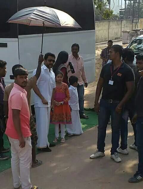 Suriya Jyothika Diya Dev @ Vizag during Singam3 shoot