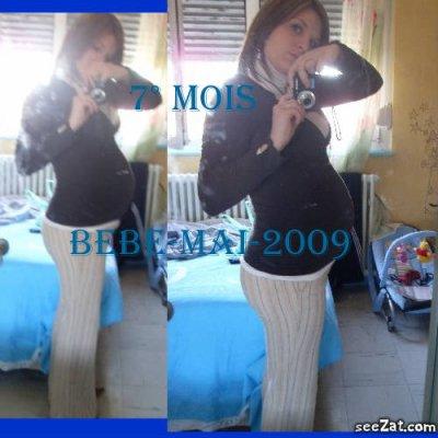 bidou 7 mois de grossesse de bebe mai 2009