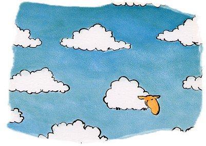 Un ciel moutonné ou moutonneux.