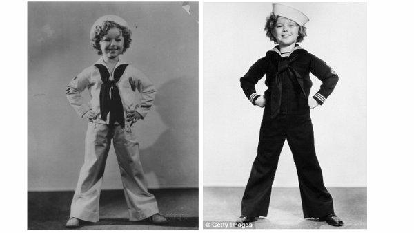 La tr�s c�l�bre Shirley TEMPLE en tenue de marin ...