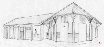 La caserne des pompiers d 39 artemare mes dessins et ce que - Dessin caserne pompier ...