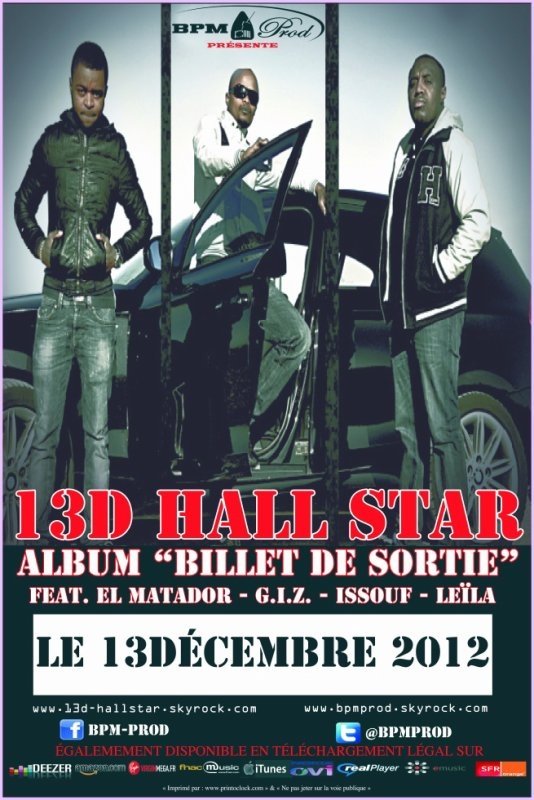 AFFICHE : 13D Hall Star - Billet de Sortie (2012)