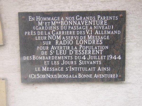 Plaque souvenir
