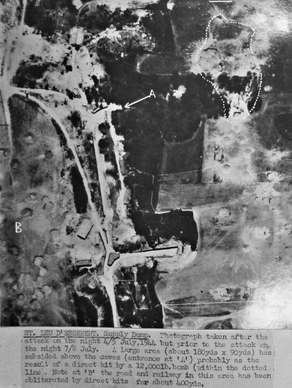 Photo 1944 apr�s Bombardement