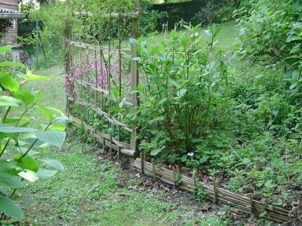 Support rosier et bordure de bambou les vanneries de jacques for Deco jardin avec bambou