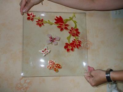 Blog de peintures sur verres mes peintures sur verre - Peinture sur plateau en verre ...