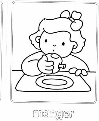 Mod le de dessin manger petit coup de pouce pour les cours - Dessin manger ...