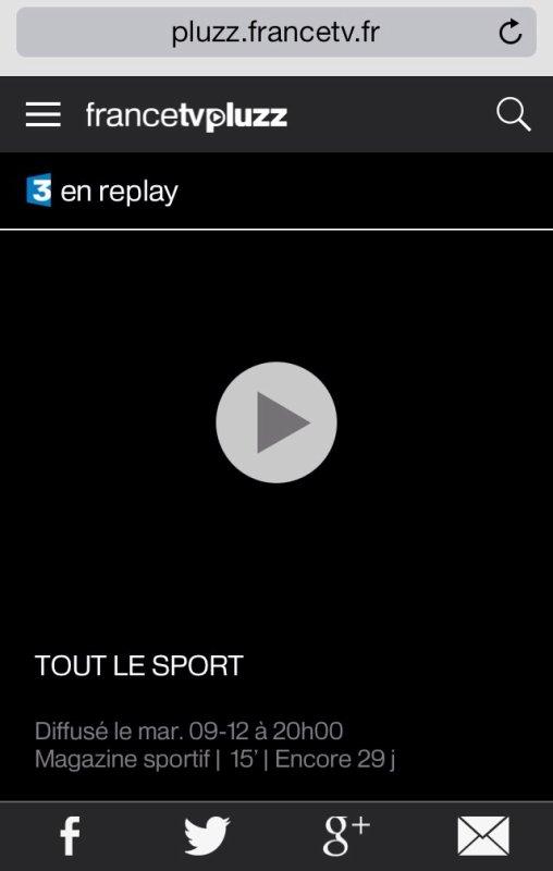 REPLAY DU REPORTAGE TOUT LE SPORT D'HIER SOIR (Passage vers 10min50).