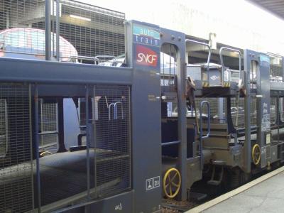 auto train en gare de paris bercy le blog du rail. Black Bedroom Furniture Sets. Home Design Ideas