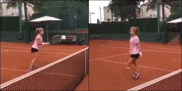 5 Octobre 2016 : Shakira a post� une nouvelle vid�o d'elle en train de jouer au tennis � Barcelone Elle est toute jolie avec son tee shirt rose et son short noir, vous ne trouvez pas ? La belle s'entra�ne dure pour garder la forme !