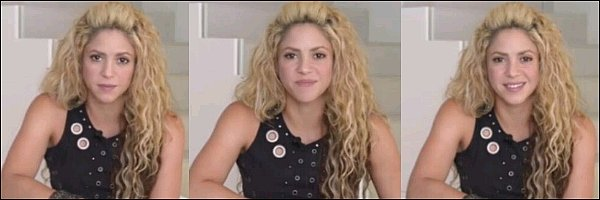 18 Septembre 2016, Shakira a post� une nouvelle vid�o sur les r�seaux sociaux pour promouvoir le mouvement #LearningGeneration afin que tous les enfants du monde puissent avoir acc�s � l'�cole.