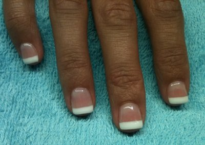Ongle en gel french blanche - Ongle gel french blanche ...