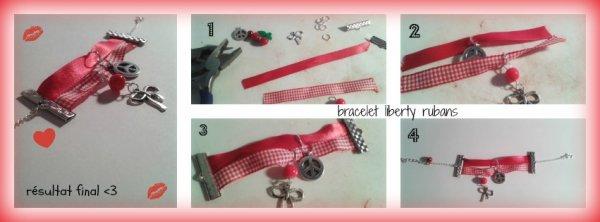 tuto bracelet liberty rubans
