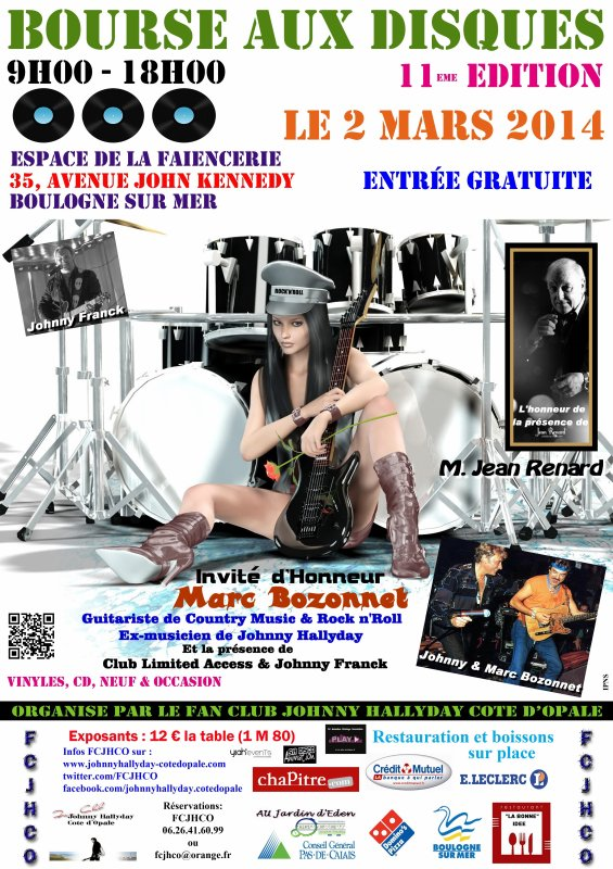 BOURSE AUX DISQUES & EXPOS  (JOHNNY HALLYDAY) FC - JHCO