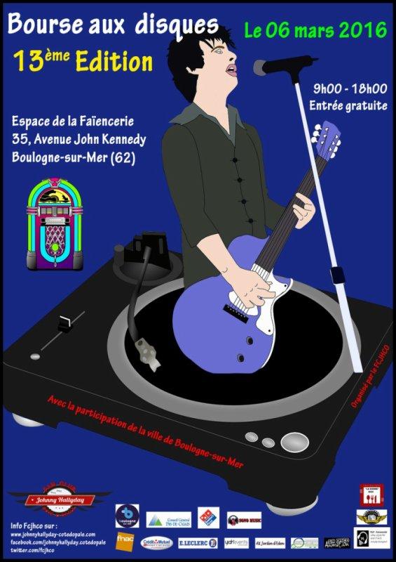 13�me bourse aux disque par le Fan Club Johnny Hallyday