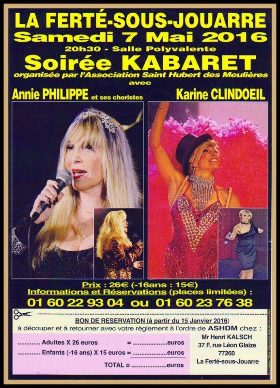 Soirée Cabaret avec Annie Philippe & ses Choristes et Karine