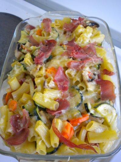gratin de p 226 tes aux l 233 gumes et jambon cru ma ptite cuisine by ptiteval85