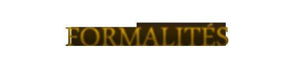 Formalit�s