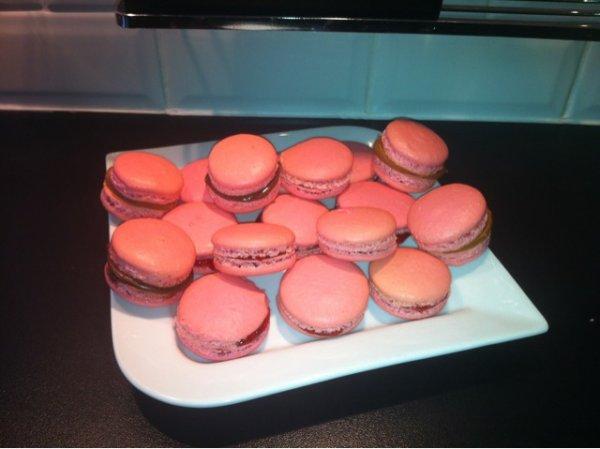 macaron fraises