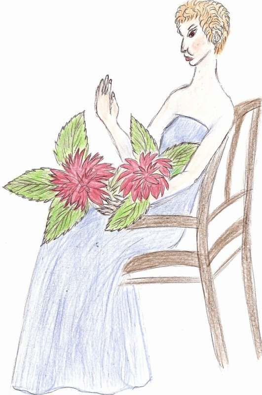 dessin de ma belle-m�re 86 ans dec�d� le6 janvier 2011