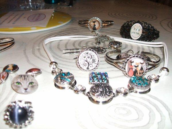 les autres bijoux achetés lors du salon créatif