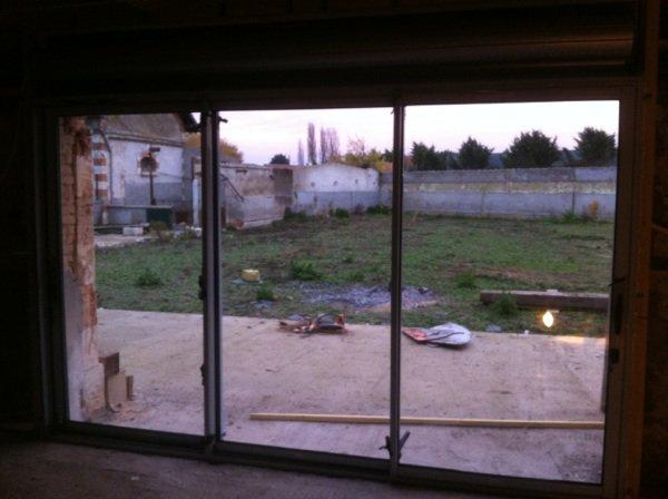 La baie vitr e la grange de neuville - Baie vitree 3 vantaux ...