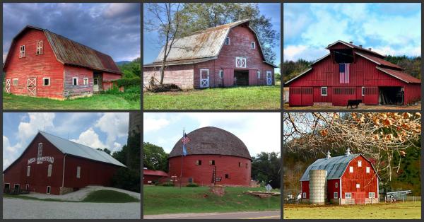 pourquoi les granges am ricaines sont elles peintes en rouge n 1 blog de cathou28. Black Bedroom Furniture Sets. Home Design Ideas