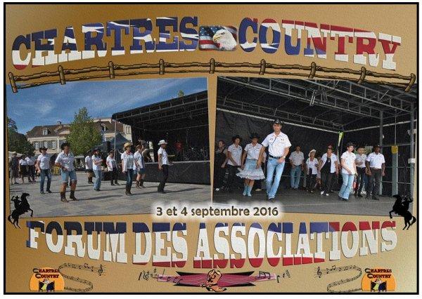 Chartres Country au Forum des Associations � Chartres le samedi 03  et dimanche 04 septembre 2016.