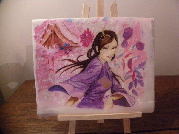Peinture sur soie les peintures de nini for Technique de peinture sur soie en video