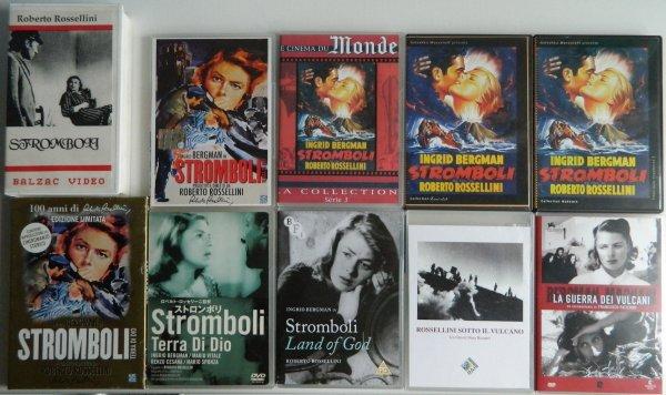 """Liste de mes DVD & enregistrements concernant le film """"Stromboli"""" (1950) de Roberto Rossellini"""