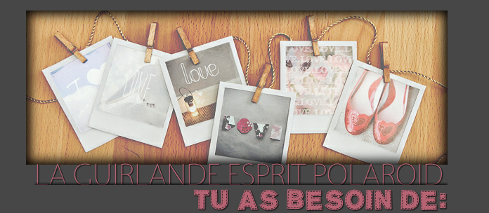 une guirlande esprit polaroid delicious bazar. Black Bedroom Furniture Sets. Home Design Ideas