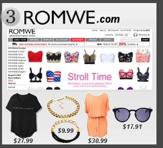 MODE : Mes boutiques en ligne pr�f�r�es