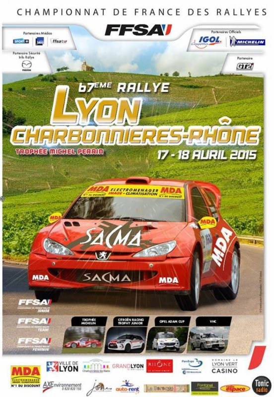 67�me rallye lyon charbonnieres-rh�ne 2015