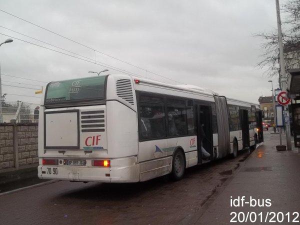 Réseau CIF Groupe Kéolis ligne 15,bus irisbus Renault Agora Là Aulnay Sous Bois RER Le blog  # Renault Aulnay Sous Bois